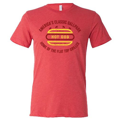 Reading Fightin Phils Flat Top Grilled Hot Dog T-Shirt
