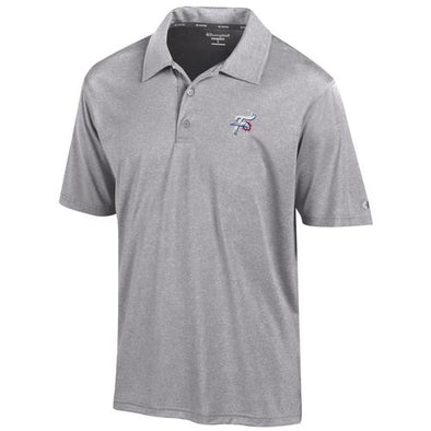 Reading Fightin Phils Champion Grey Heathered Polo