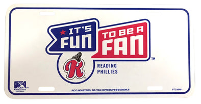 Reading Phillies It's Fun to be a Fan License Plate