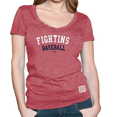 Reading Fightin Phils Retro Brand S/S Deep V-Neck Tee Women's