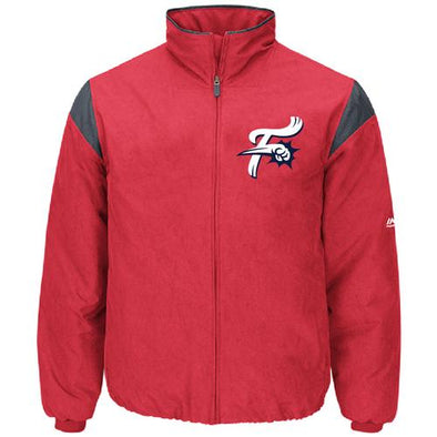 Reading Fightin Phils Majestic Red Fightins On-Field Therma Base Thermal Full-Zip Jacket