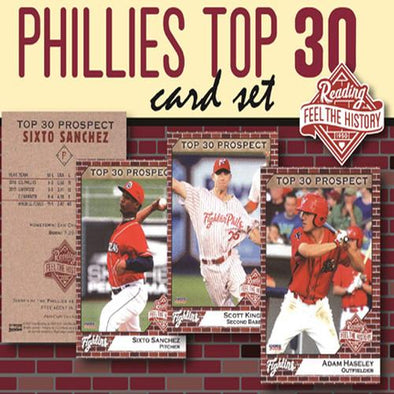 Reading Fightin Phils 2018 Top 30 Prospects Card Set - Reading Feel the History