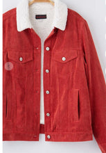 Load image into Gallery viewer, Corduroy jacket with fleece lining