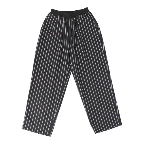 Chef Pants with Elastic Waist Band, Stripe