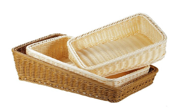 1GY4 Rectangular Slanted Face Basket (Brown)