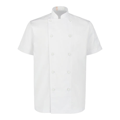 Chef Jacket Classic Short Sleeve, White