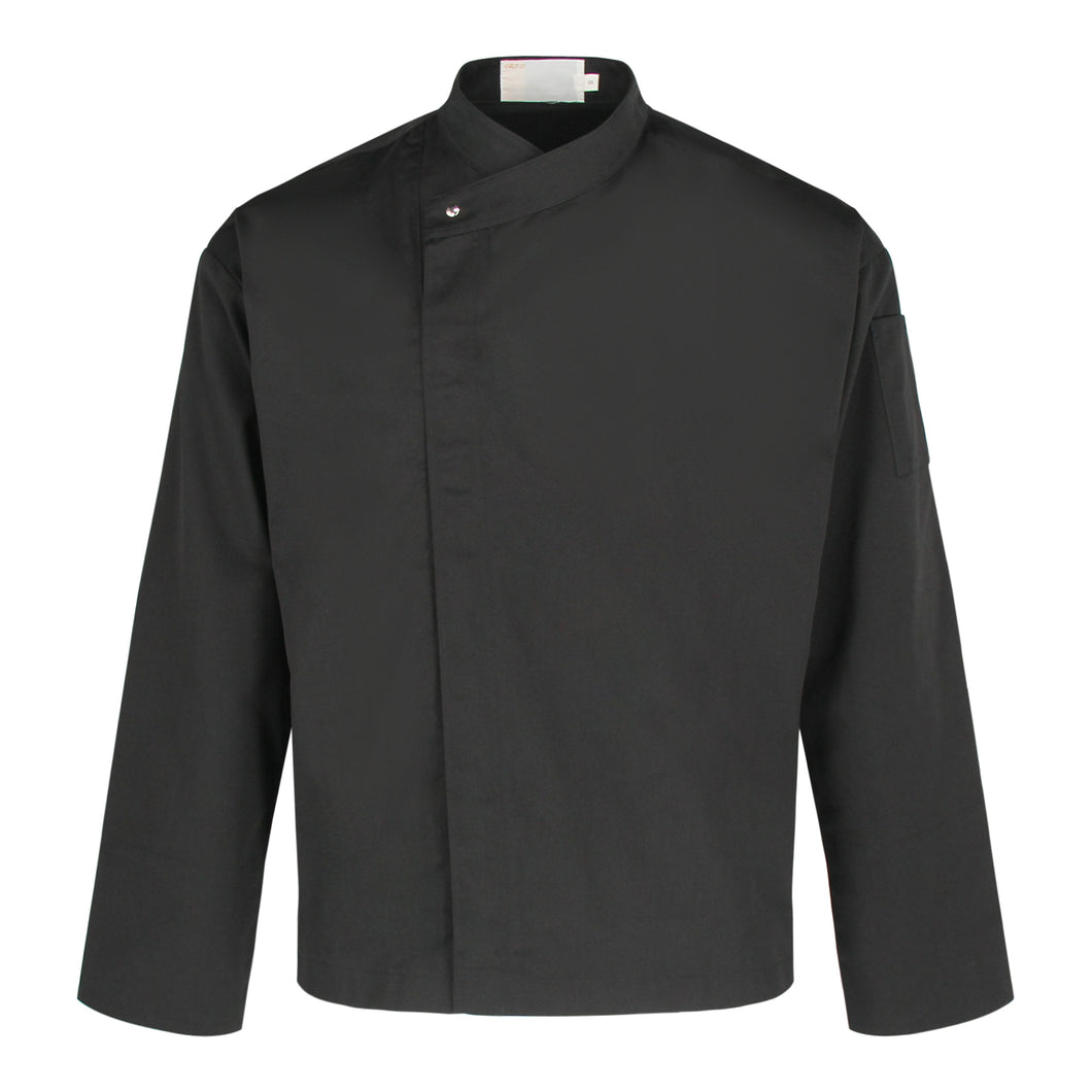 CU002 Chef Jacket Long Sleeve, Black