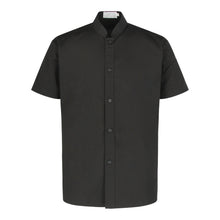 Load image into Gallery viewer, CU119 Chef Shirt Short Sleeve, Black