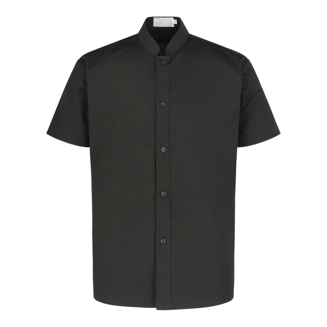 CU119 Chef Shirt Short Sleeve, Black