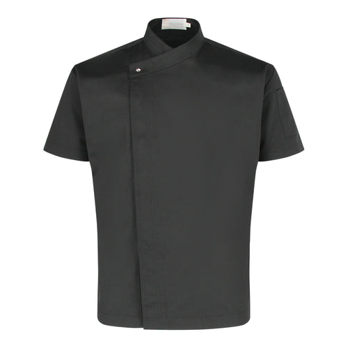 CU002 Chef Jacket Short Sleeve, Black