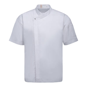 CU002 Chef Jacket Short Sleeve, White