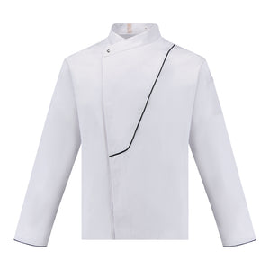 CU003 Chef Jacket with Black Piping