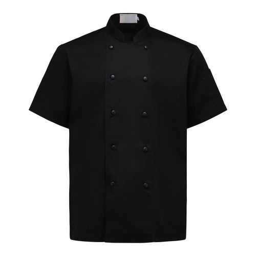 Chef Jacket Classic Short Sleeve, Black
