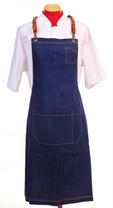 Denim Apron with Leather Harness