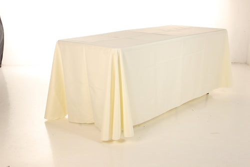 Table Cloth. 6 ft x 2 1/2 ft Table, Polyester,Full Drop (130