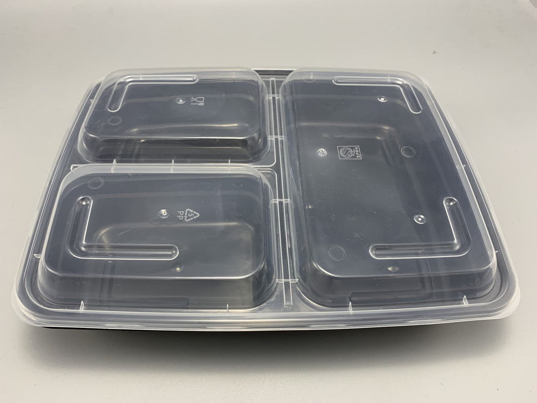 Three Compartment Bento Takeout