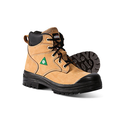 key features Women's  Lynx II 6 Inch Ankle Safety Work Boots Steel Toe Plated  - Brown