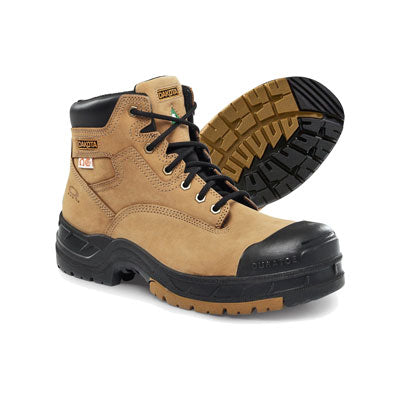 key features Men's 6 Inch Industrial Safety Work Boots Composite Toe Plated - Tan