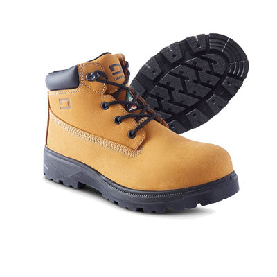 key features Women's Maz 6 Inch Safety Work Boots Steel Toe Plated - Tan