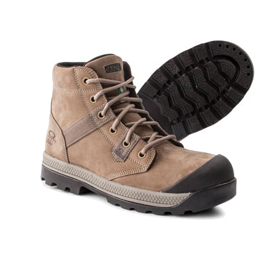 key features Women's Safety Work Boots Steel Toe Plated, Lace-Up Ankle & Breathable  - Taupe