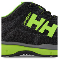 Men's Athletic Safety Work Shoes Composite Toe With Anti-Slip Soles - Black/Lime Green