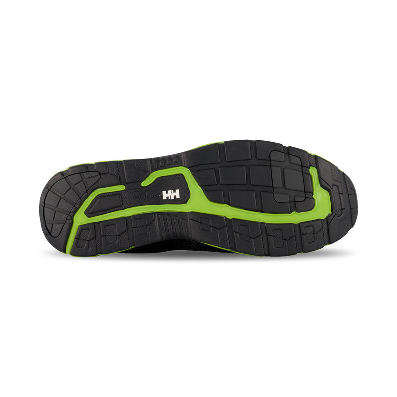 Men's Waterproof Athletic Safety Work Shoes Composite Toe With Anti-Slip Soles - Black/Lime Green