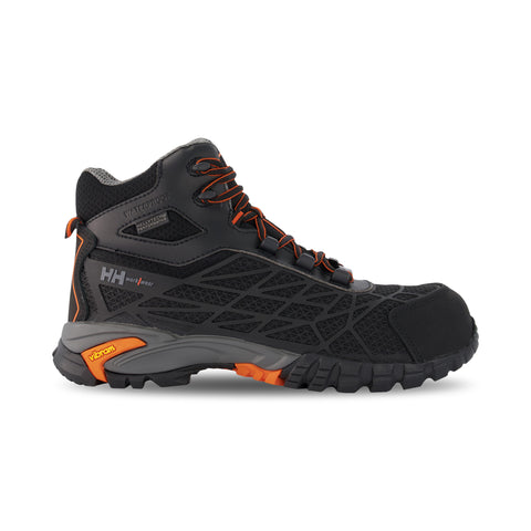 Men's Terreng 6 Inch Waterproof Hiking Style Safety Work Boot Composite Toe With Anti-Slip Soles - Black/Orange