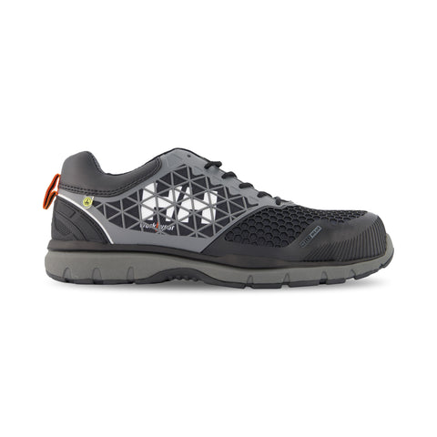 Men's Loki Athletic Safety Work Shoes Composite Toe With Anti-Slip Soles - Black