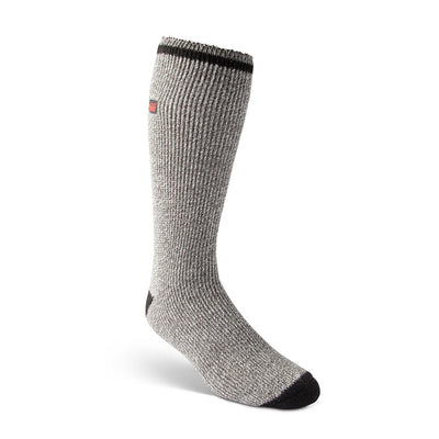 key features Men's King Size Thermal Insulated Outdoor/Hiking Boot Socks for Cold Weather - Gray Melange/Black