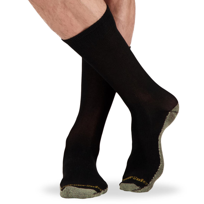 Men's Athletic/Sport Sock with Odor Protection (2-Pack) - Black