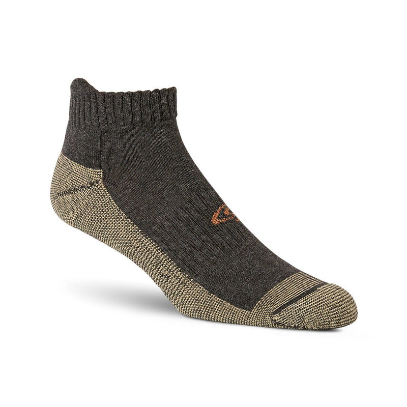 Men's 4-Pack Low Cut Cotton Blend Sport Socks- Charcoal