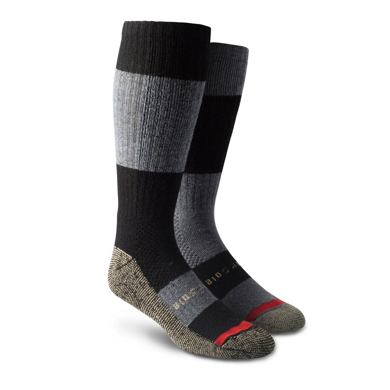 Men's Elevated Thermal Boot Sock with odour protecion- Black/Charcoal