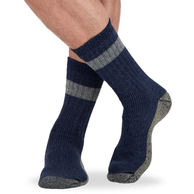 key features Men's Wool Blend Work Socks with Odor Protection (5-Pack) - Assorted