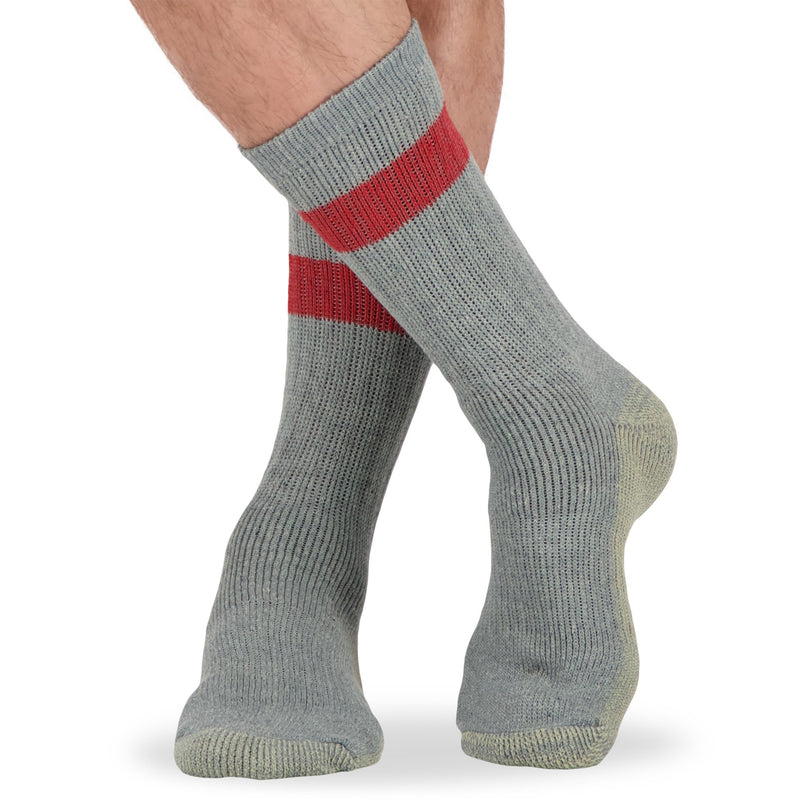 Men's Wool Blend Work Socks with Odor Protection (5-Pack) - Assorted