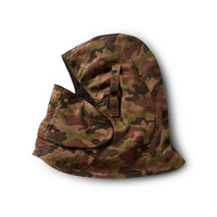 Fleece Insulated Cotton Twill Hard Hat Helmet Liner With Removable Face Mask - Brown Camo