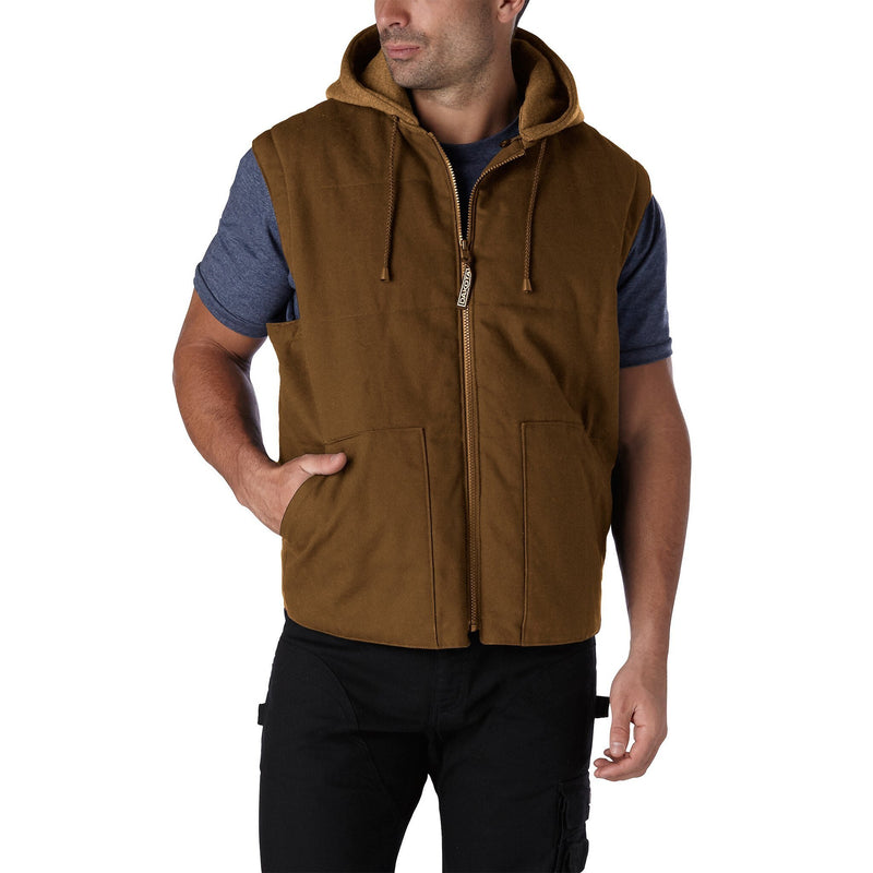 Men's 2-in-1 Insulated Convertible work jacket & vest - Brown/Chestnut