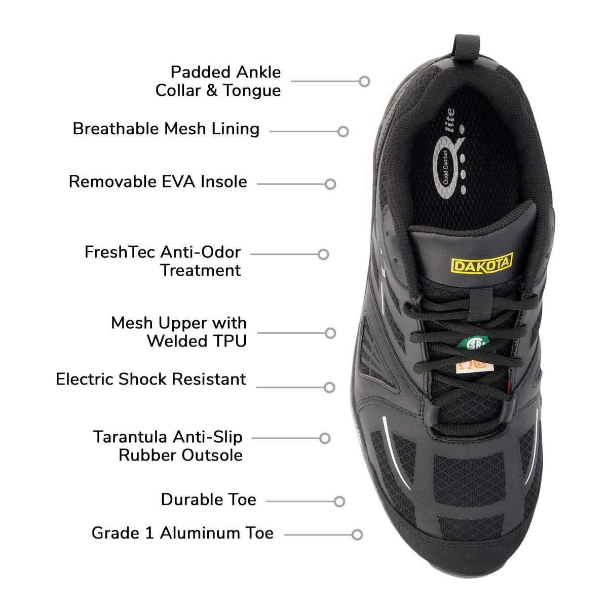 Men's 3603 Athletic Work Safety Shoes