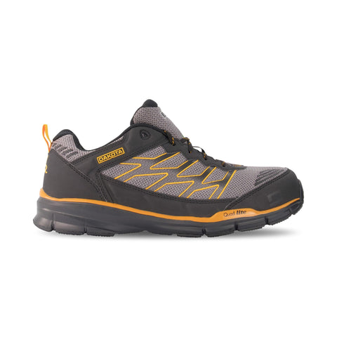 Men's 3604 Athletic Safety Work Shoes Aluminum Toe Plated - Black/Yellow