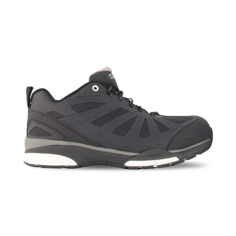 Men's 3619 Athletic Safety Work Shoes Aluminum Toe Plated - Black/Grey