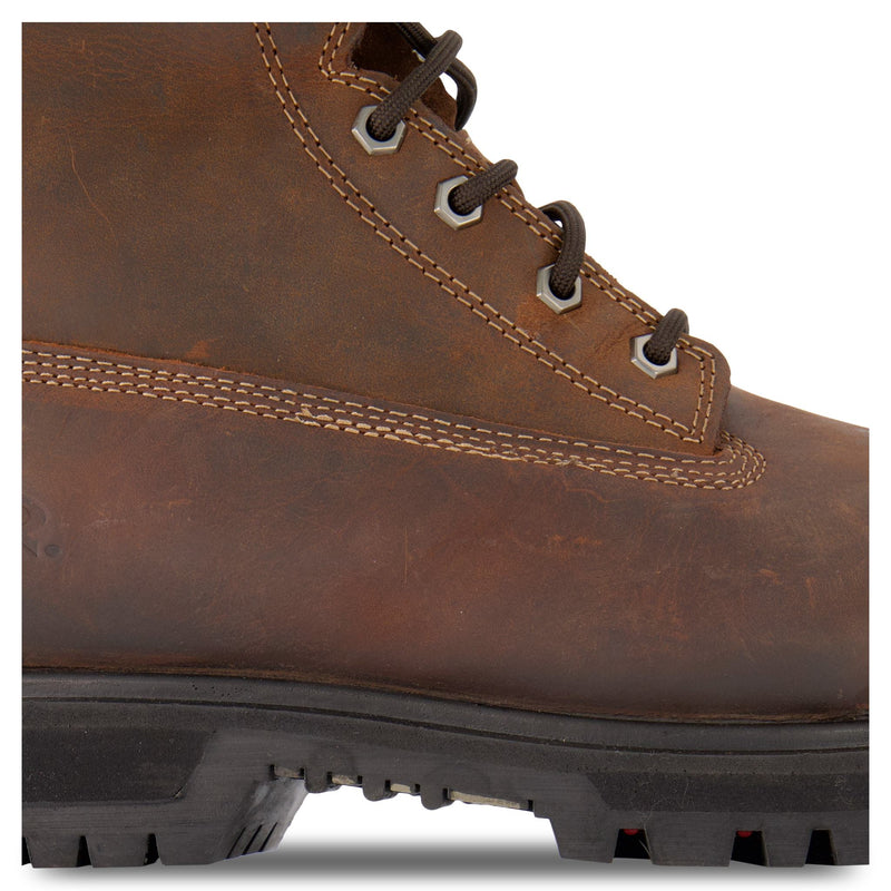 Men's Leather Safety Work Boots Steel