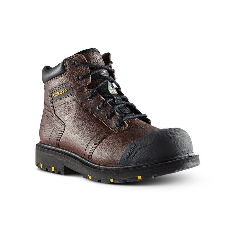 Men's 6002 Dakota WorkPro 6 Inch Leather Work Boot Steel Toe Plated - Brown