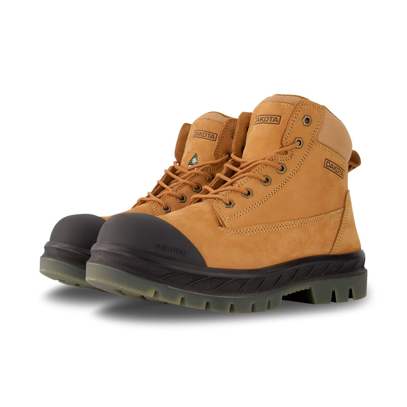Men's 6518 6 Inch Leather Safety Work Boot Steel Toe Plated and Insulated - Tan