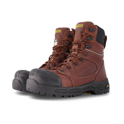 key features Men's 8 Inch 8410 Injected Safety Work Boots Composite Toe Plated - Brown