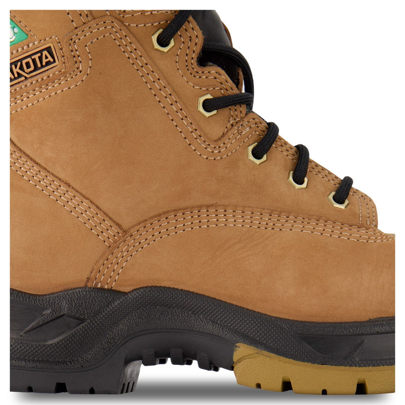 Men's 8 Inch Industrial Work Boots Steel Toe Composite Plated - Tan