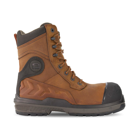 Men's 8512 8 Inch  Safety Work Boot Composite Toe Plated - Dark Brown