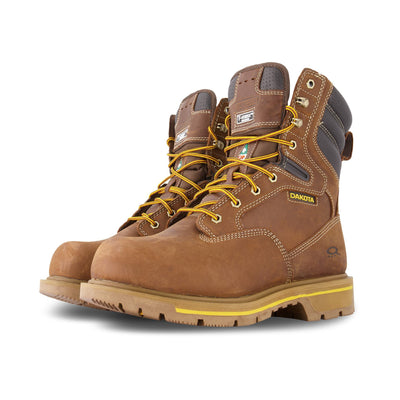 key features Men's 8517 Quad Comfort 8 Inch Safety Work Boot Steel Toe Plated - Brown