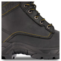 Men's 877 8 Inch Industrial Safety Work Boots Steel Toe Plated - Black