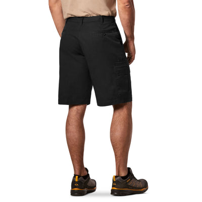 key features Men's Cargo Style Work Shorts in Stretch Cotton Blend with Stain Resistant Finish - Black