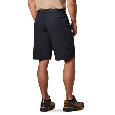 key features Men's Cargo Style Work Shorts in Stretch Cotton Blend with Stain Resistant Finish - Navy