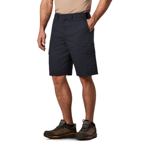 Men's Cargo Style Work Shorts in Stretch Cotton Blend with Stain Resistant Finish - Navy